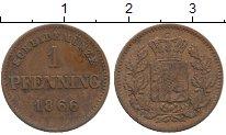 Изображение Монеты Бавария 1 пфенниг 1866 Медь XF
