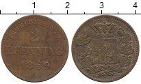 Изображение Монеты Бавария 2 пфеннига 1869 Медь XF