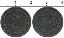 Изображение Монеты Германия 2 пфеннига 1875 Медь XF- С
