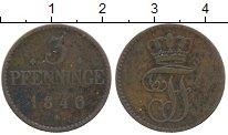 Изображение Монеты Мекленбург-Шверин 3 пфеннига 1846 Медь VF