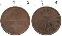 Изображение Монеты Германия Мекленбург-Шверин 3 пфеннига 1832 Медь VF