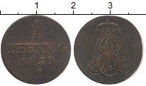 Изображение Монеты Германия Ганновер 1 пфенниг 1839 Медь VF