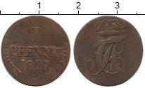 Изображение Монеты Германия Анхальт-Бернбург 1 пфенниг 1827 Медь VF