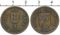 Изображение Монеты Португалия Португальская Индия 1 таньга 1934 Бронза XF-