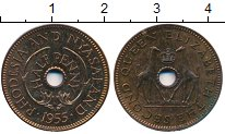 Изображение Монеты Великобритания Родезия 1/2 пенни 1955 Бронза Proof-