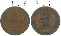 Изображение Монеты Германия Биркенфельд 3 пфеннига 1848 Медь VF