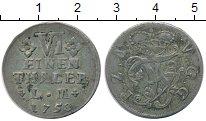 Изображение Монеты Германия Анхальт-Бернбург 1/6 талера 1758 Серебро XF-
