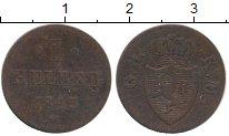 Изображение Монеты Гессен-Кассель 1 геллер 1845 Медь VF