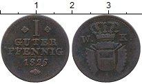 Изображение Монеты Германия Шаумбург-Гессен 1 пфенниг 1826 Медь VF+