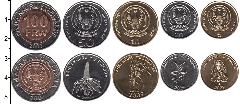 Изображение Наборы монет Руанда Руанда 2007-2011 0  UNC-
