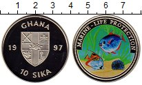 Изображение Монеты Гана 10 сика 1997 Медно-никель UNC
