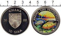 Изображение Монеты Гана 10 сика 2000 Медно-никель Proof
