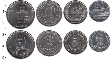 Изображение Наборы монет Южная Америка Парагвай Парагвай 2008-2016 2007  UNC-
