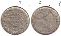 Изображение Монеты Южная Америка Чили 5 сентаво 1919 Серебро XF