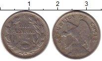 Изображение Монеты Южная Америка Чили 10 сентаво 1919 Серебро VF