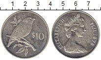 Изображение Монеты Фиджи 10 долларов 1978 Серебро UNC-
