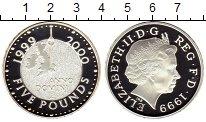 Изображение Монеты Европа Великобритания 5 фунтов 1999 Серебро Proof-