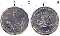 Изображение Монеты Сомали 5 сенти 1976 Алюминий UNC
