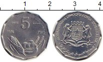 Изображение Монеты Африка Сомали 5 сенти 1976 Алюминий UNC