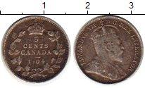 Изображение Монеты Северная Америка Канада 5 центов 1904 Серебро VF