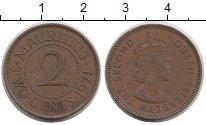 Изображение Монеты Маврикий 2 цента 1971 Бронза XF Елизавета II