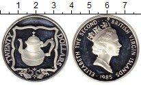 Изображение Монеты Виргинские острова 20 долларов 1985 Серебро Proof- Корабельный чайник