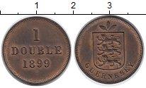 Изображение Монеты Великобритания Гернси 1 дубль 1899 Медь XF+