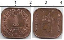 Изображение Монеты Великобритания Малайя 1 цент 1943 Бронза XF+