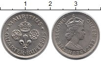 Изображение Монеты Маврикий 1/4 рупии 1975 Медно-никель UNC- Елизавета II