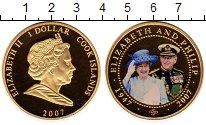 Изображение Монеты Острова Кука 1 доллар 2007 Медно-никель Proof- 60-летие бракосочета