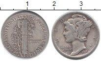 Изображение Монеты США 1 дайм 1943 Серебро XF-