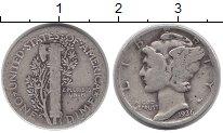 Изображение Монеты Северная Америка США 1 дайм 1936 Серебро XF-