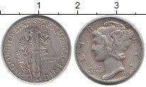 Изображение Монеты Северная Америка США 1 дайм 1945 Серебро XF-