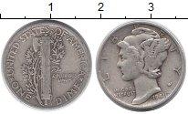 Изображение Монеты Северная Америка США 1 дайм 1941 Серебро XF-