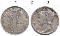 Изображение Монеты США 1 дайм 1945 Серебро XF-