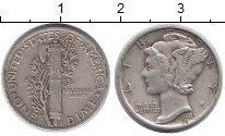 Изображение Монеты Северная Америка США 1 дайм 1943 Серебро XF-