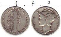 Изображение Монеты Северная Америка США 1 дайм 1944 Серебро XF-