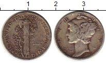 Изображение Монеты США 1 дайм 1945 Серебро XF- S