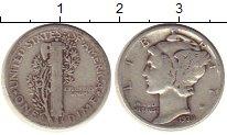 Изображение Монеты Северная Америка США 1 дайм 1939 Серебро XF-