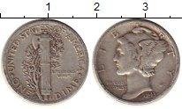 Изображение Монеты США 1 дайм 1943 Серебро XF- D