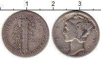 Изображение Монеты Северная Америка США 1 дайм 1937 Серебро XF-