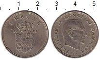 Изображение Монеты Дания 1 крона 1971 Медно-никель XF