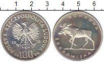 Изображение Монеты Польша 100 злотых 1978 Серебро Proof- Охрана окружающей ср