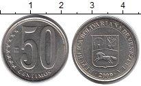 Изображение Монеты Венесуэла 50 сентим 2009 Медно-никель UNC-