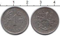 Изображение Монеты Европа Финляндия 1 марка 1950 Железо XF-