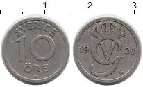 Изображение Монеты Европа Швеция 10 эре 1921 Медно-никель XF