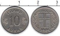 Изображение Монеты Исландия 10 аурар 1966 Медно-никель XF