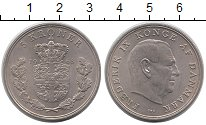 Изображение Монеты Дания 5 крон 1968 Медно-никель XF Фредерик IX. Герб
