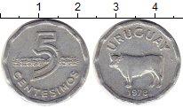 Изображение Монеты Уругвай 5 сентесим 1978 Алюминий XF