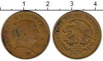 Изображение Монеты Мексика 5 сентаво 1965 Латунь XF